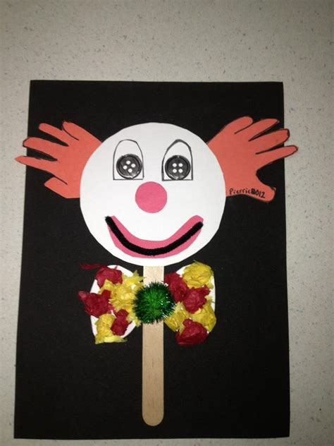 circus crafts for clown craft
