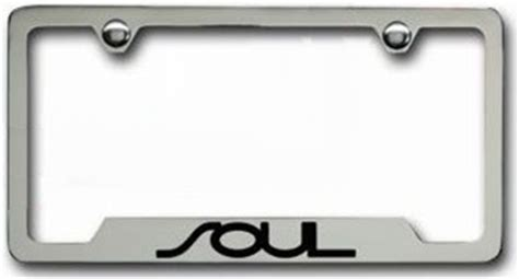 Kia License Plate Oem Kia Soul Chrome License Plate Frame Features Black