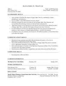 Skill Based Resume Sles by The Most Stylish Sle Skill Based Resume Resume Format Web