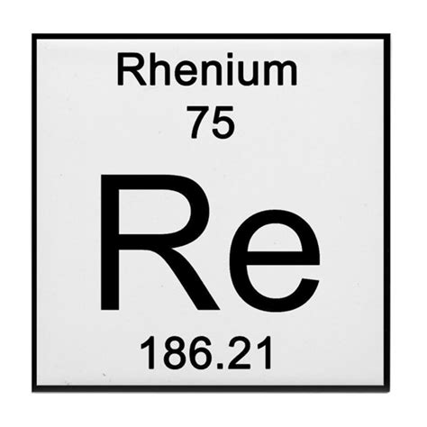 Australian Kitchen Designs periodic table rhenium tile coaster by science lady