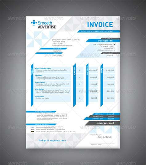 corporate invoice template corporate invoice template by departstudio graphicriver