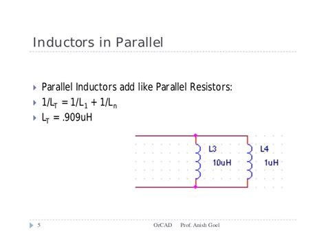 add inductors in parallel basic circuit or cad