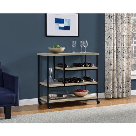 altra furniture elmwood sonoma oak serving cart with
