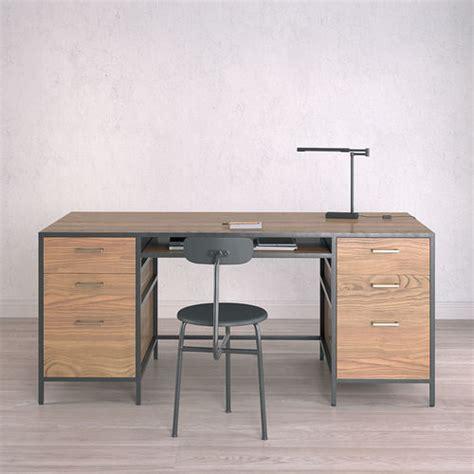 3d Model Work Desk Industrial Big Cgtrader Work Desks