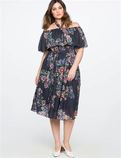Big Size Midi Dress Batik Kartika printed the shoulder midi dress s plus size dresses eloquii