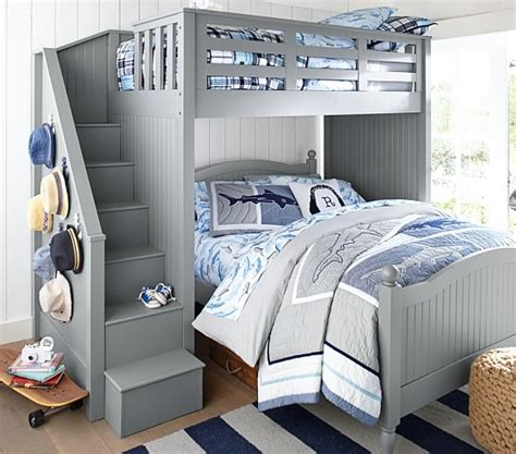 Set Staris Kid stair loft bed lower bed set pottery barn
