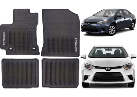 Floor Mats Toyota Corolla by Genuine Oem Front Rear Rubber Floor Mats For 2014 2017