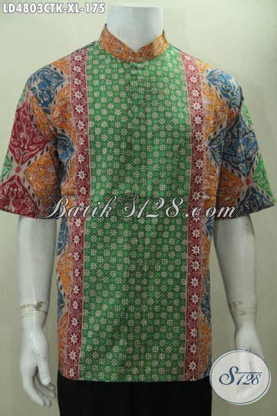 Baju Koko Tenun Lengan Pendek Bordir Kombinasi Al Aziz baju batik halus lengan pendek istimewa buatan model kerah shanghai batik hem berkelas