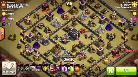 earthquake coc hocus pocus war attack earthquake spells with gowipe