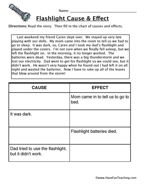 Cause And Effect Worksheets For Middle School by Cause And Effect Worksheets Teaching