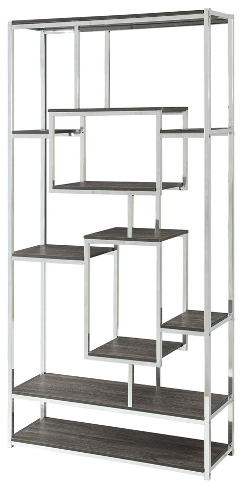 bookcases contemporary metal frame bookcase  weathered