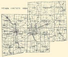 Ohio Township Map by Hixson 1930 S Stark County Plat Maps