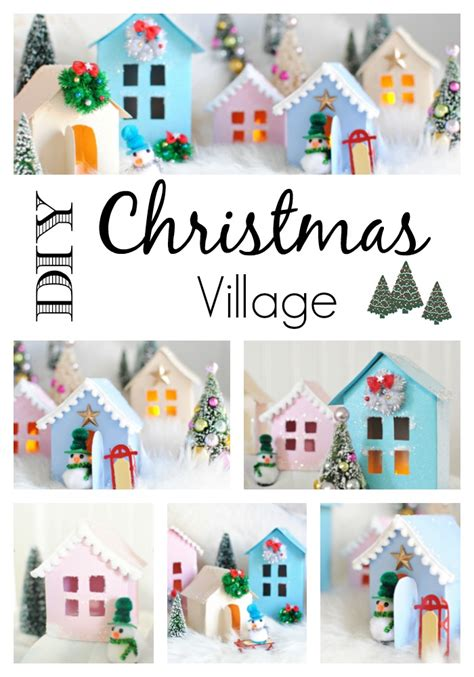 printable christmas village christmas village free printable to make your own town