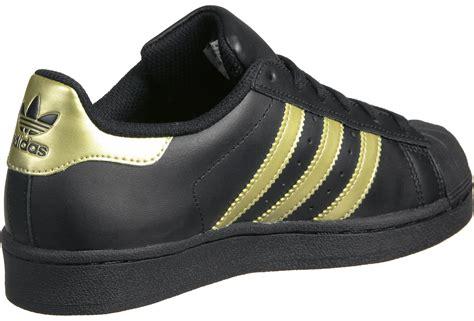 Adidas Superstar Foundation Pack Gold Logo White Black adidas superstar foundation j w shoes black gold weare shop
