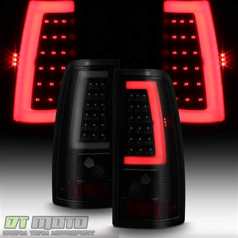 2008 gmc sierra led tail lights black smoke 1999 2006 gmc sierra 99 02 chevy siverado led