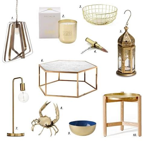 Homewares Decorative Items Brass Decor Is Back And Here S Where To Buy It