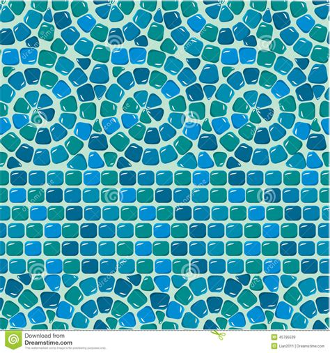 Kitchen Backsplash Ceramic Tile seamless mosaic pattern blue ceramic tile stock vector