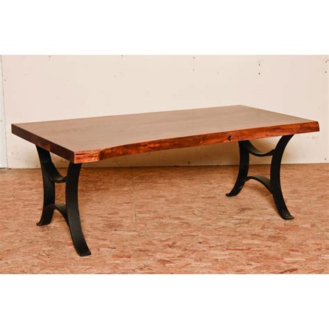 master collection coffee table live edge top amish