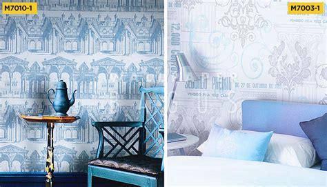 terapi warna biru  wallpaper dinding desain