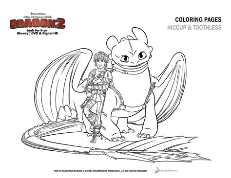 how to train your dragon 2 free coloring and activity