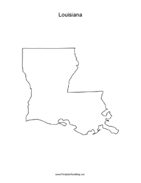 Louisiana Boot Outline by Louisiana Blank Map