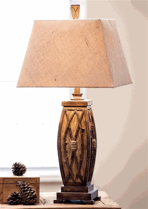 rustic table lamps willow twig table lampblack forest decor