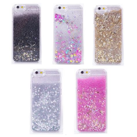 Water Glitter Iphonesamsungxiaomi liquid glitter bling moving design cover for iphone samsung ebay
