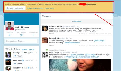 cara membuat imael twitter cara mudah membuat akun twitter terbaru hello ridwan