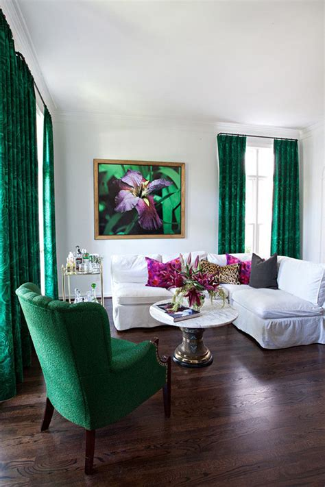 Green And White Living Room by Colour Emerald By Duran The Oak