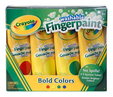 crayola painting crayola washable fingerpaint primary colors