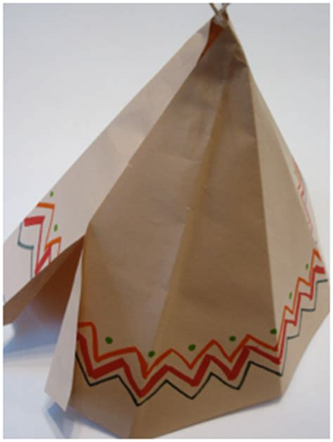 How To Make A Paper Teepee - how to make a large teepee for a centerpiece