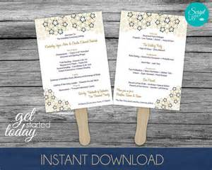one sided wedding program template items similar to gold paddle fan wedding program template