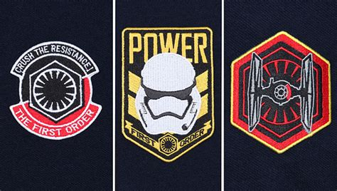Patch The Last Jedi Emblem Starwars Bordir Order wars stormtrooper power patches polo exclusive thinkgeek