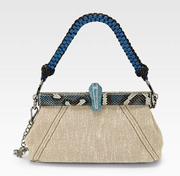 Sui Linen Frame Bag by Prada Rings In Resort 2011 With Exotically Accented Linen