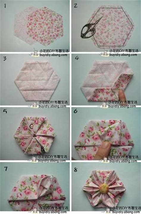 Origami Fabric Flowers - fleurs en tissu origami and fleur on