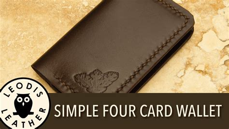 how to make a wallet out of cards a simple 4 card leather wallet