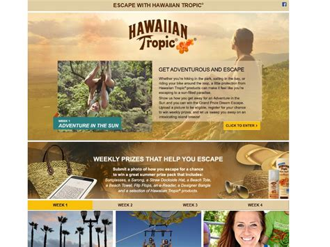 Hawaii Contests Sweepstakes - escape with hawaiian tropic contest and sweepstakes sweepstakes fanatics