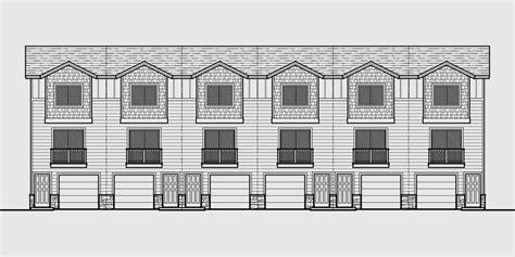 townhouse plans narrow lot 6 plex house plans row house plans townhouse plans narrow lot