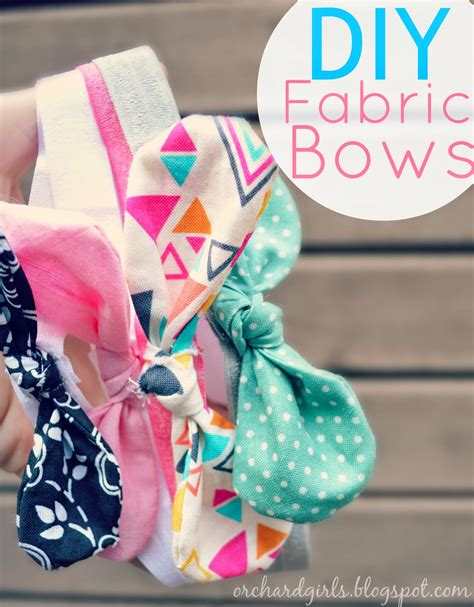 orchard girls diy fabric bows and headbands