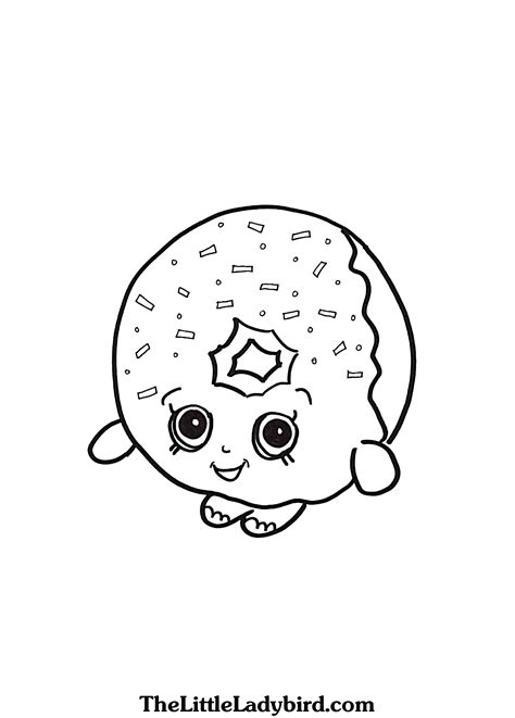 shopkins donut coloring page free delish donut shopkins coloring page