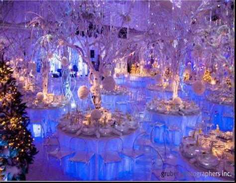 astounding winter wonderland theme wedding reception with