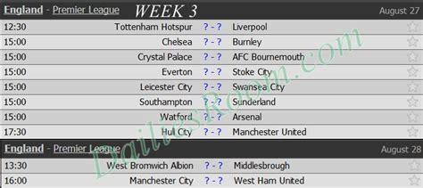 epl week english premier league fixtures schedule 2016 2017 epl