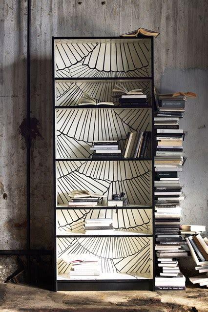 wallpaper bookshelf ideas living room study design