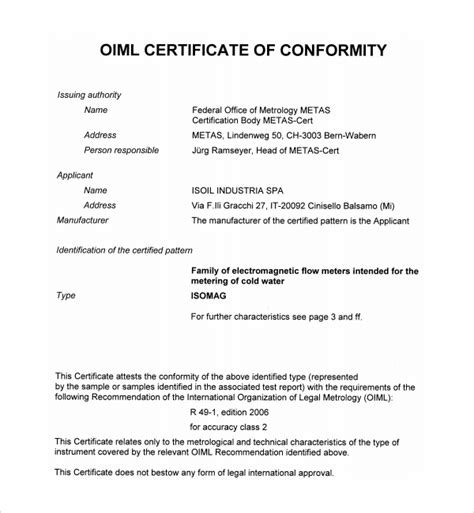 letter of conformance template 13 conformity certificate templates to sle