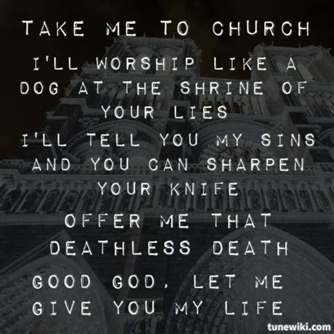 Hozier Quotes About Take Me To Church | take me to church hozier lyrics alternative music