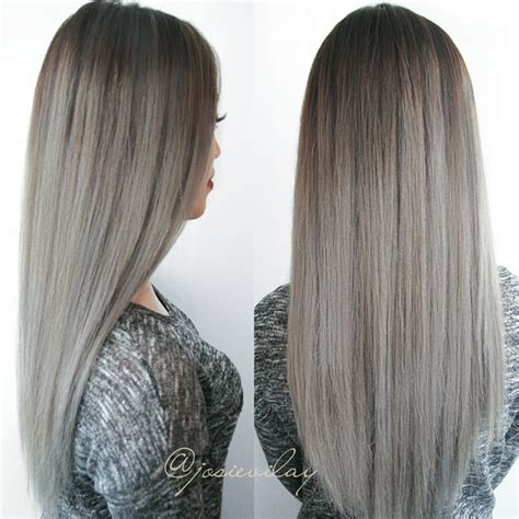 silver brown hair amazing grey silver hair by josie vilayvanh hair colors