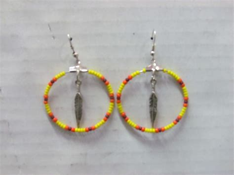 beaded american earrings american beaded earrings beautiful beaded hoop with