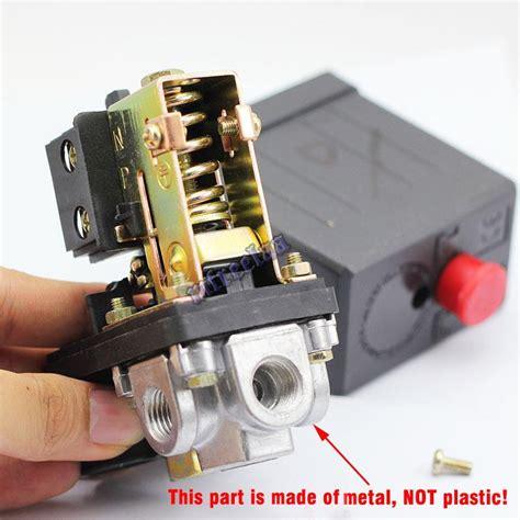 new solid 90 120psi air compressor pressure switch valve heavy duty 708624426762 ebay