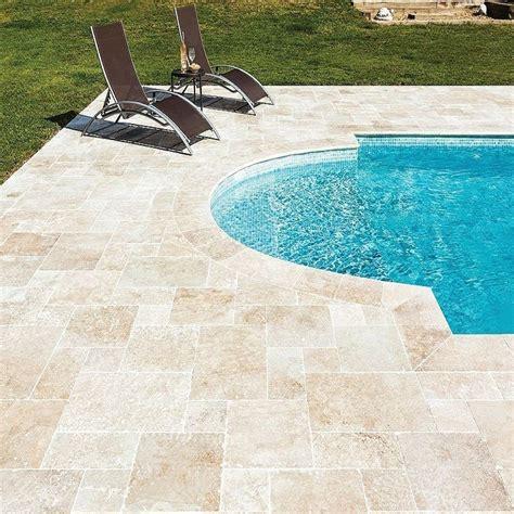 terrasse 80 x 40 carrelage bagnac en travertin 60 x 40 x 1 2 cm sol