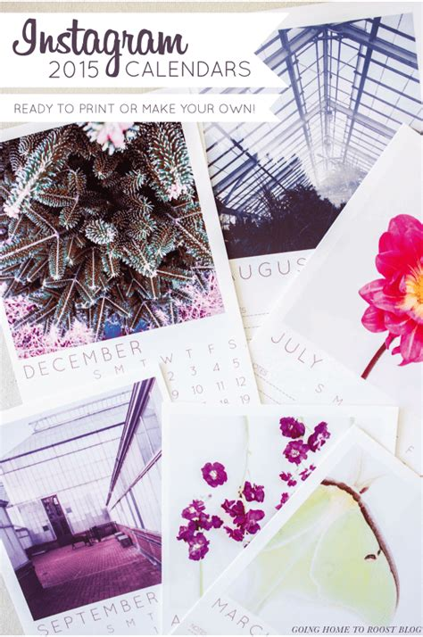 20 Free Printable Calendars To Ring In The New Year Instagram Calendar Template